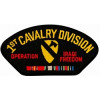 FLB1719 - Iraq 1st Cavalry Division with Ribbon Black Patch