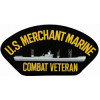 FLB1779 - US Merchant Marine Combat Veteran with Ship Black Patch