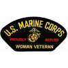 FLB1797 - US Marine Corps Proudly Served Woman Veteran Black Patch