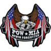 FLC1924 - POW/MIA Never Forgotten Eagle Back Patch (5 inch)
