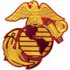 """FLD1225 - Eagle Globe and Anchor Back Patch (6.5"""" x 8"""")"""