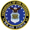FLD1709 - US Air Force Defenders of Our Freedom Back Patch