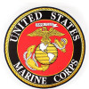 FLF1227 - US Marine Corps Insignia Rocker Back Patch (10 inch)