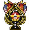 "FLF1228 - US Marine Corps Spade Back Patch( 8.5 x 11"")"