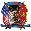 "FLF1238 - US Marine Corps These Colors Never Run Back Patch (10"" x 10"")"