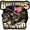 FLG1858 - Brothers to the End Back Patch ( 11 x 12)