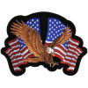 FLG1866 - 2 FLags w/ Eagle Back Patch