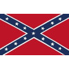 PCF18 - Confederate 1 Sided Screen Printed Flag 3' x 5'
