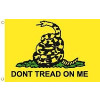 PCF45 - Gadsden 1 Sided Screen Printed Flag 3' x 5' ft