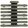 "RH725 - 22 Ribbon Bar Holder - 1/8"" Space Mount (Army, Navy, Marine Corps, Coast Guard)"
