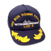 SCAPE2 - Direct Embroidered US Navy Ship's Cap with Gold Field Grade Officer's Eggs