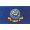 SFC64 - US Navy 1 Sided Screen Printed Flag 2' X 3'