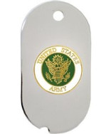 United States Army Insignia Dog Tag Necklace - 14767-DTNC