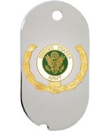 United States Army Insignia with Wreath Dog Tag Necklace - 15778-DTNC